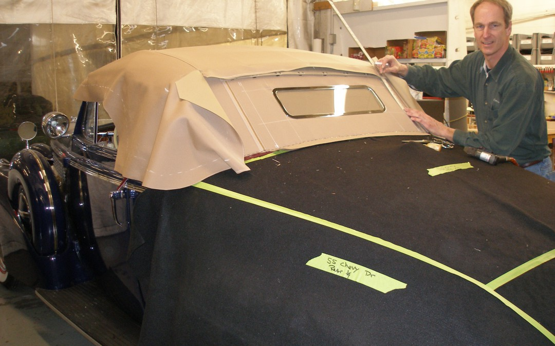 Les patterning a 1938 Buick top