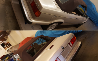 1989 BMW 325i Before & After top